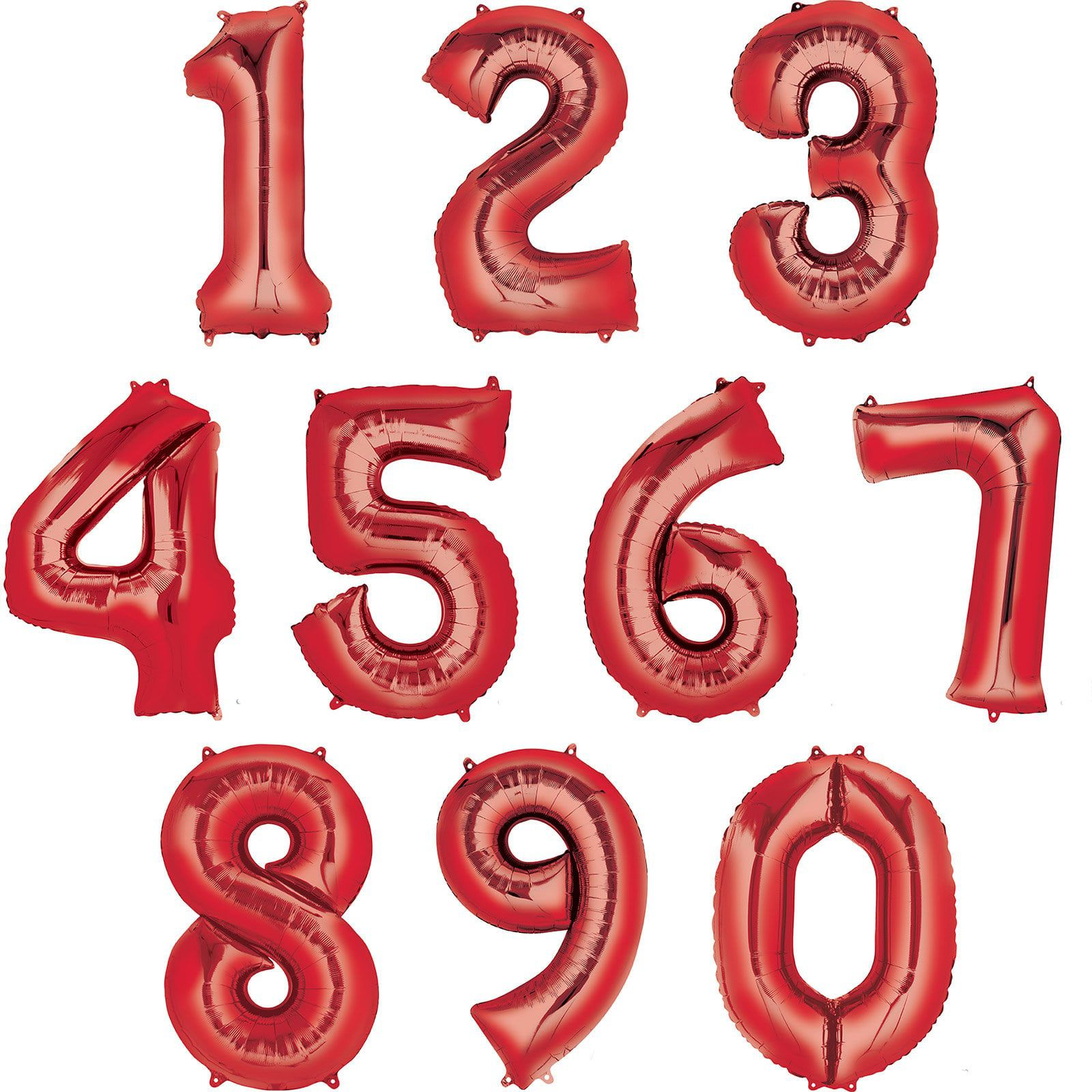 35 U0026quot  Number 0 Shaped Foil Balloon - Red