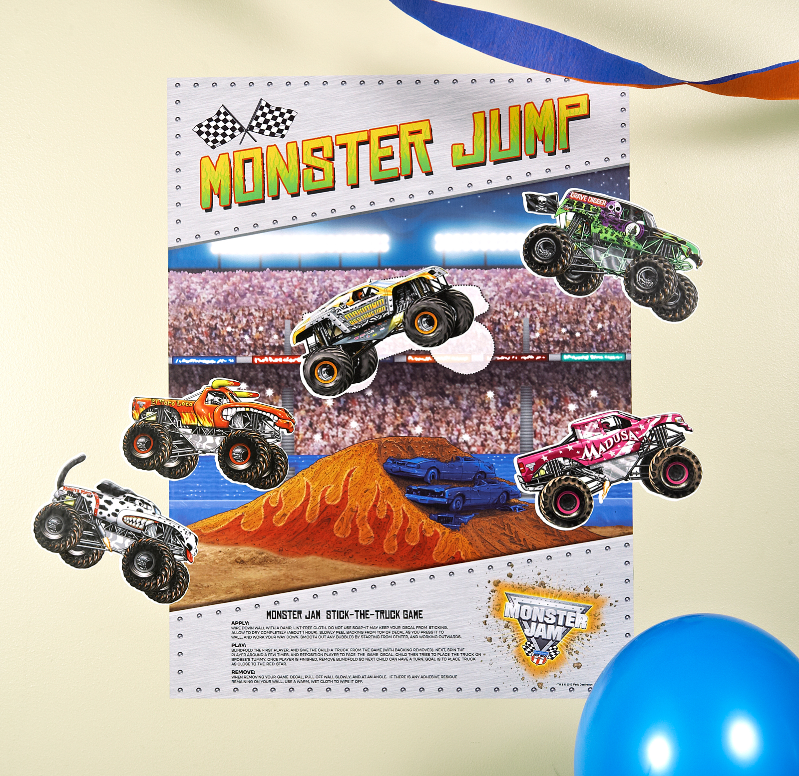 monster truck costume instructions