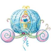 Disney Princess Carriage Shaped Jumbo Foil Balloon
