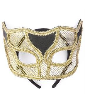 Gold Netted Mask - One-Size