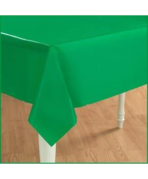 Emerald Green Green Plastic Tablecover Green