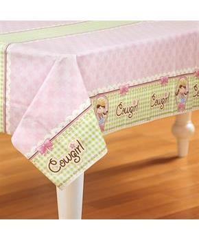 Pink Cowgirl Plastic Tablecover - Pink