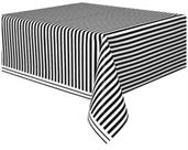 Black Stripe Plastic Tablecover
