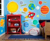 Rocket to Space Giant Wall Decal
