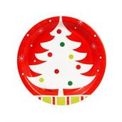 "Reindeer Christmas Party 7"" Dessert Plates"
