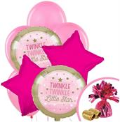 Twinkle Twinkle Little Star Pink Balloon Bouquet