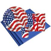 Partiotic USA Flag 8 Guest Party Pack