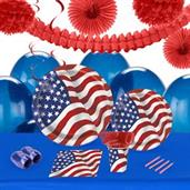 Patriotic USA Flag 16 Guest Party Pack