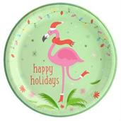 Flamingo Cheer Dinner Plate (8)