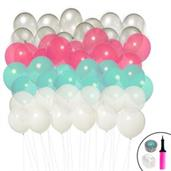 Ombre Balloon Kit (Mint, Pink, Silver & White)