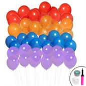Ombre Balloon Kit (Blue, Purple, Red & Orange)