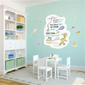 Dr. Seuss Oh the Places You'll Go Inspirational Quote Giant Wall Decal