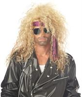 Heavy Metal Rocker Blonde Adult Wig