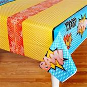 Superhero Comics Plastic Tablecover