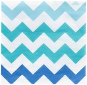 Chevron Blue Beverage Napkins