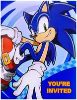 Sonic the Hedgehog Invitations
