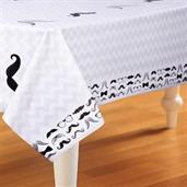 Mustache Printed Tablecover