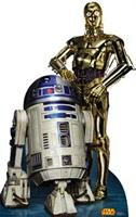 Star Wars R2D2 & C3PO Standup - 6' Tall