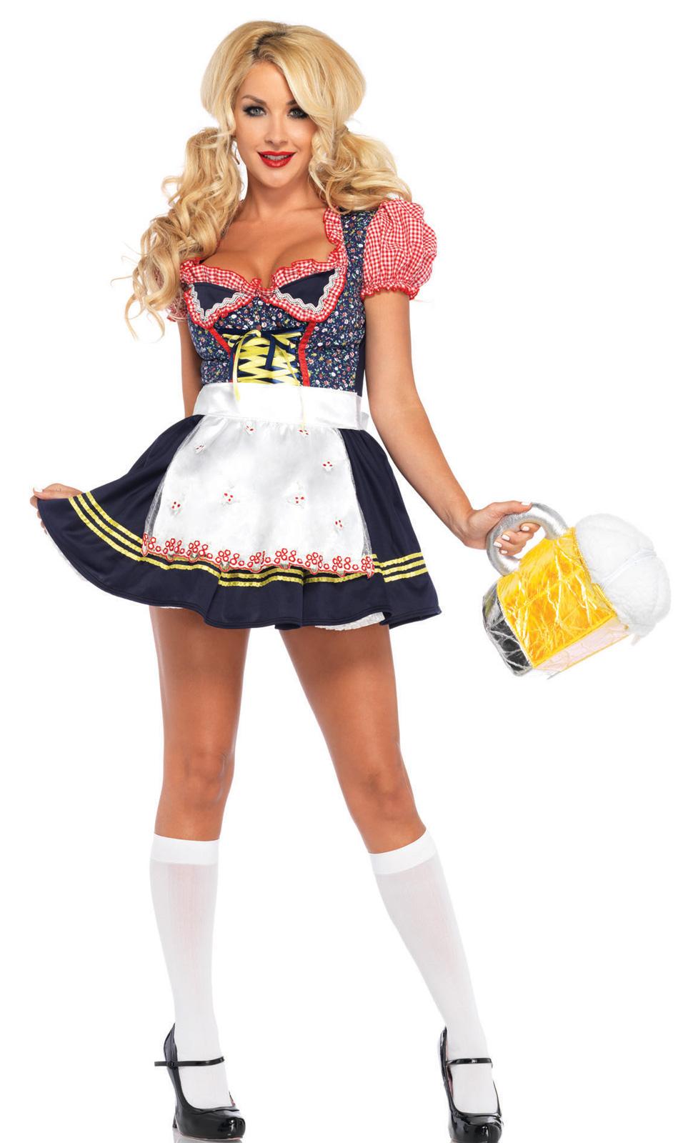 Beer Stein Babe Oktoberfest Costume Bavarian Beer Maiden M//L Medium//Large