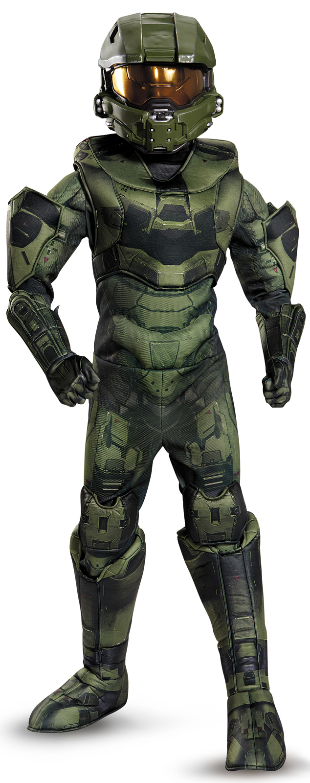 Brand New Halo Blue Spartan Classic Muscle Child Costume