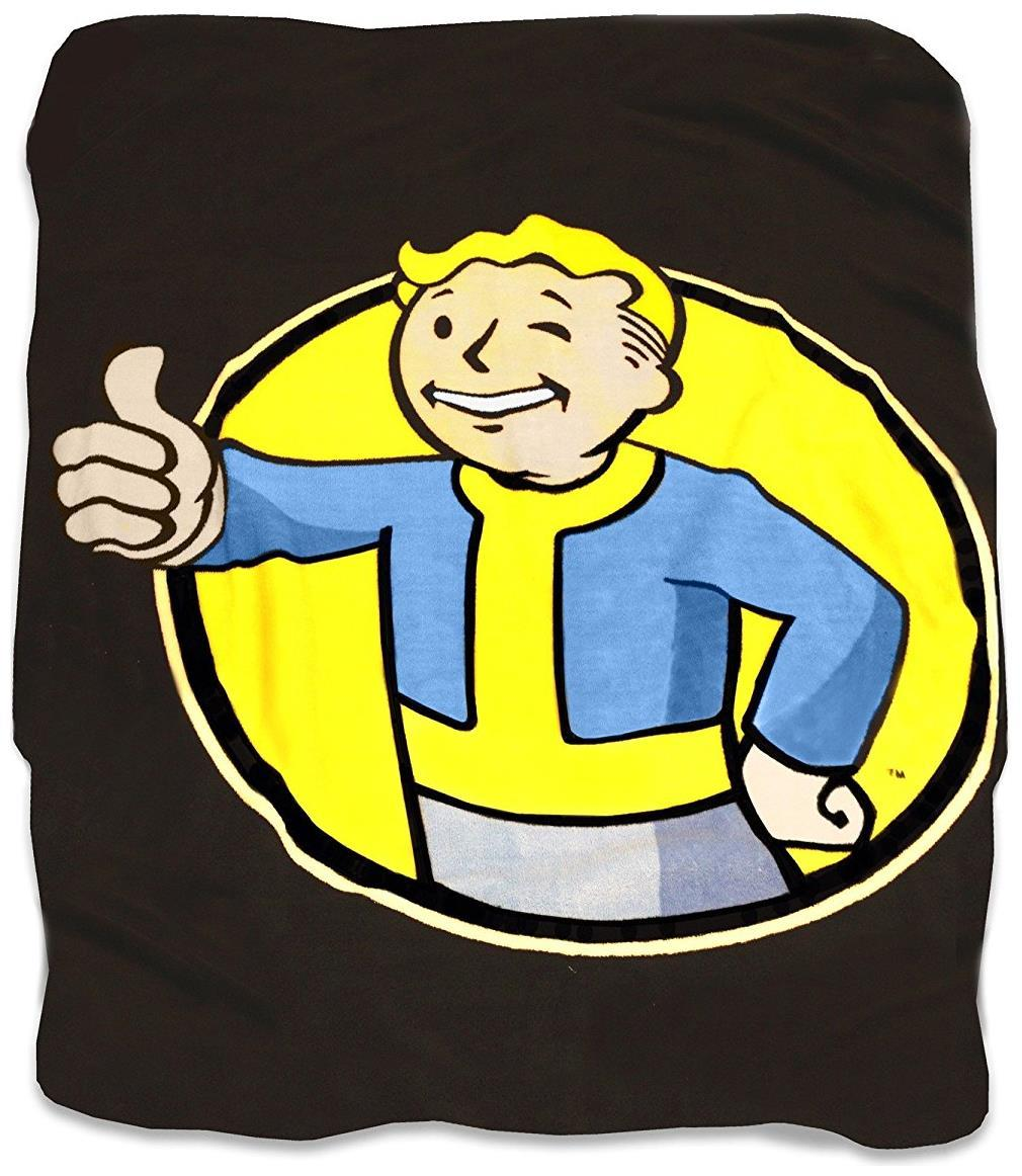 Fallout Perks Vault Boy Polyester Officially Licensed Shower Curtain