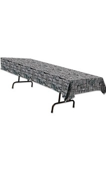 Men's Stone Wall Plastic Tablecover