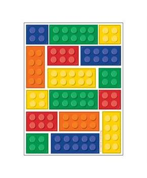 Boys Building Block Party Stickers