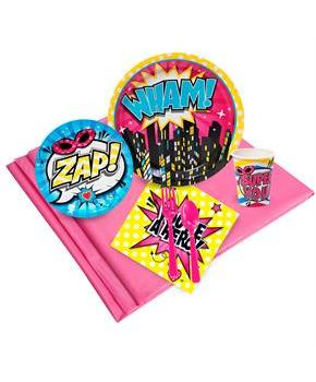 Superhero Girl Party Pack for