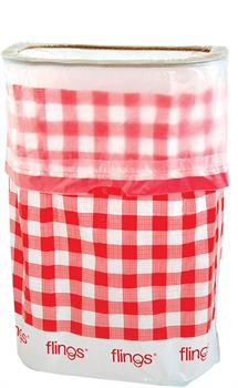 Gingham Flings Pop Up Trash Bin
