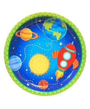 Rocket to Space 9 Dinner Plates