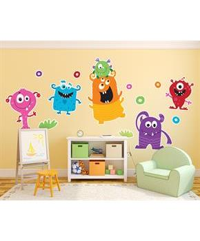 Boys Monsters Giant Wall Decal