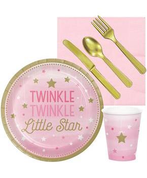Twinkle Twinkle Little Star Pink Snack Party Pack