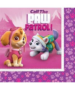 Pink Paw Patrol Girl Lunch Napkins