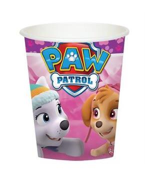 Pink Paw Patrol Girl 9oz Paper Cups