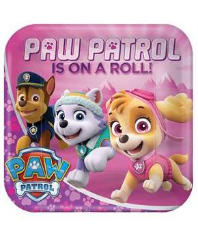 Girls Pink Paw Patrol Girl 9 Dinner Plates (8)