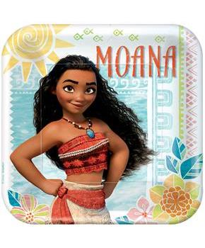 Girls Disney Moana Dinner Plate
