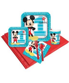 Disney Mickey Mouse 1st Birthday 16 Guest Party Pack