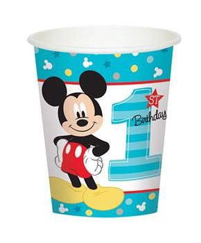 Disney Mickey Mouse 1st Birthday 9oz Paper Cups