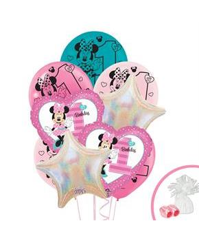 Disney Minnie Mouse 1st Birthday Balloon Bouquet