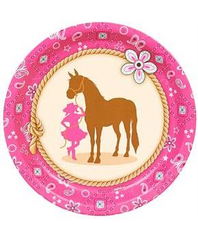 Western Cowgirl Party Dinner Plates