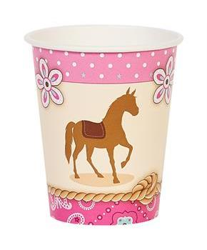 Western Cowgirl Party 9oz Paper Cups
