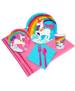 Girls Fairytale Unicorn Party 16 Guest Party Pack