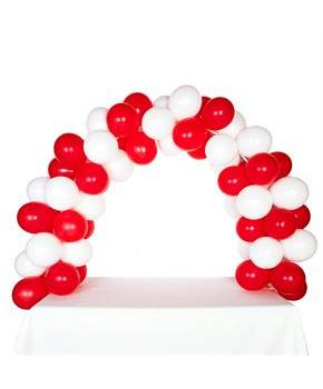 Girls Celebration Tabletop Balloon Arch-Red & White