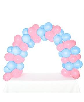 Adult Celebration Tabletop Balloon Arch-Pink & Sky Blue for Halloween