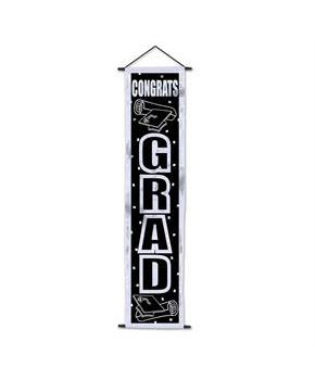Adult Congrats Grad Velvet-Lame Door Panel