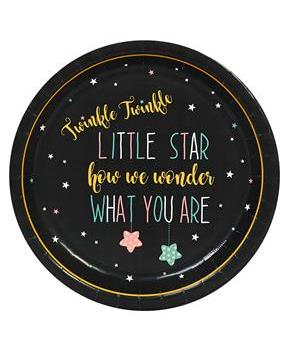 Boys Twinkle Twinkle How We Wonder Dinner Plate