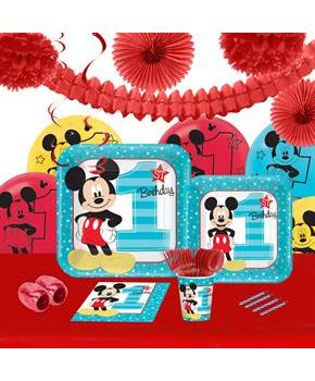 Disney mickey mouse 1st birthday 16 guest party pack for 1st birthday party decoration packs