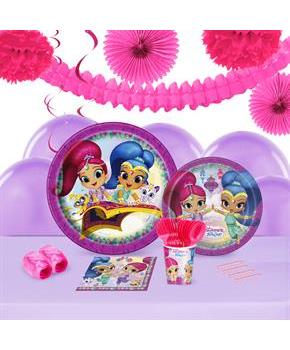 Shimmer and Shine 16 Guest Tableware & Deco Kit