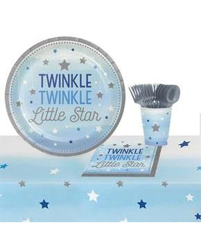 Teen Twinkle Twinkle Little Star Blue 8 Guest Party Pack