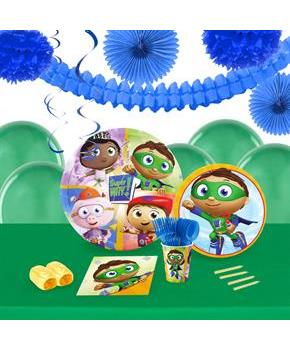 Boys Super Why 16 Guest Tableware & Deco Kit